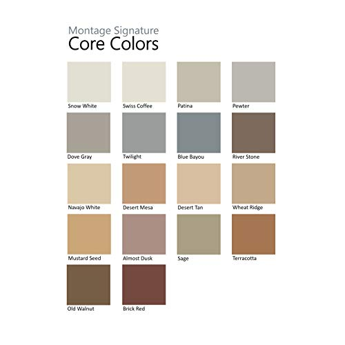 Montage Signature Interior/Exterior Eco-Friendly Paint, Pewter, Low Sheen, 5 Gallon