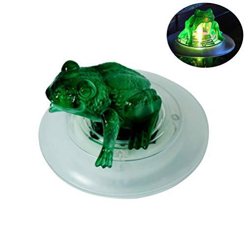 Uonlytech Solar Floating Light Wasserdichte Farbwechsel Solar Pond Lights Frog Floating Light für Gartendekorationen im Pool
