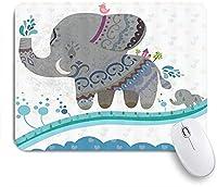 KAPANOU マウスパッド、漫画の象面白い象 おしゃれ 耐久性が良い 滑り止めゴム底 ゲーミングなど適用 マウス 用ノートブックコンピュータマウスマット