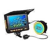 Lixada Fischfinder Unterwasser Eisfischen Kamera 4,3' LCD Monitor 8 Infrarot IR LED Nachtsicht Kamera 140 ° Weitwinkel 20 M 1000TVL