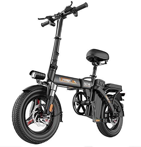 Bici elettrica per ebikes, Bici elettrica pieghevole per adulti 8-36Ah 280W 48 V Velocità massima 25 km / h con display LCD Destrazione da 14 pollici E-Bikes per gli uomini Donne Ladies (Dimensioni: 2