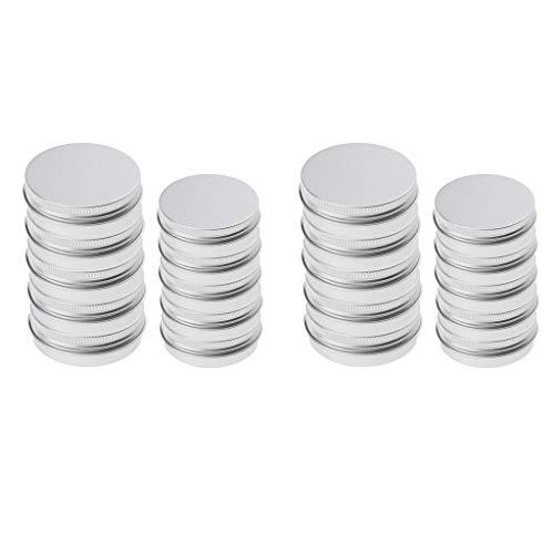 chiwanji Tarros de Lata de Aluminio de 20 Piezas Tamaño de 2 Estilos/Capacidad de 40/100 Ml Adecuado para Cosméticos - Vela - Bálsamo Labial - Aceite - Cera