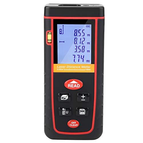 Akozon digitale laser afstandsmeter 80 m afstandsmeter Laser 30 gegevens met Auto Off LCD-display voor industriële bouw (0,05~80 m)