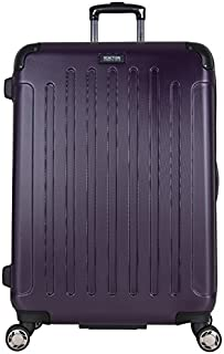 "Kenneth Cole Reaction Renegade 28"" Lightweight Hardside Expandable 8-Wheel Spinner Checked-Size Luggage, Deep Purple"