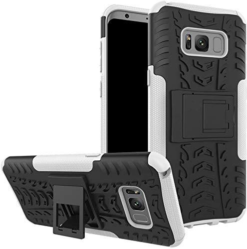 Capa Capinha Anti Impacto Para Samsung Galaxy S8 Tela 5.8Case Armadura Hybrid Reforçada Com Desenho De Pneu - Danet (Preto com Branco)