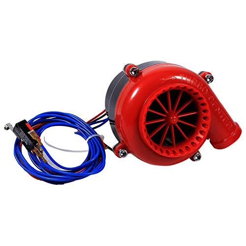 Keenso Auto elektronische gefälschte Dump Turbo Ventil Analog Sound BOV Simulator Kit mit Montage Halterung und Rot Montage Zubehör