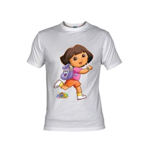 Mx Games Camiseta Dora la Exploradora Mochila (Talla: 7-8 años, Color: Amarillo)