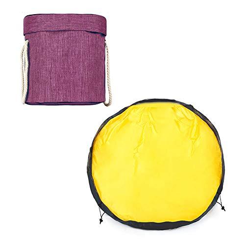 VBARV Bolsa de Almacenamiento de Juguetes, cestas organizadoras de Almacenamiento de Juguetes y tapete de Juego, con cordón, Material de Lona Plegable y Duradero, para habitación de niños