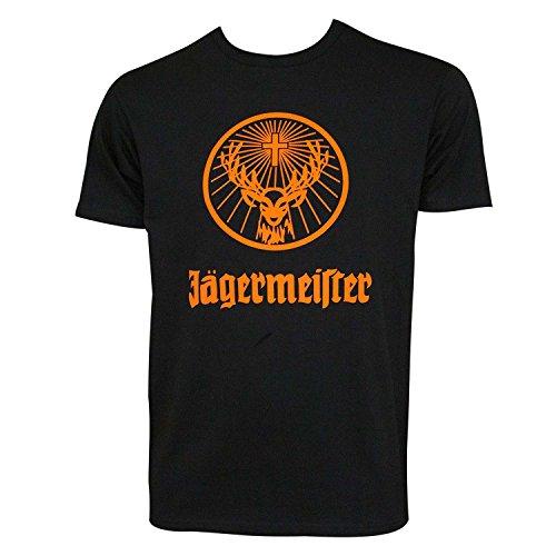 Jagermeister Logotipo de Naranja los Hombres de la Camiseta Pequeño