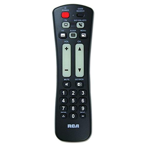 RCA 2 Device Large Button Remote Control - Black (RCRH02BR)