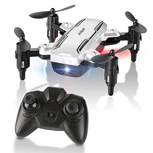 HELIFAR Mini Drone Plegable, H815 RC Drone Night Light Flying RC Quadcopter, One Key Return, Modo sin Cabeza 2.4GHz 6-Gyro Gyro Helicóptero Pequeño Dron para niños, Adultos