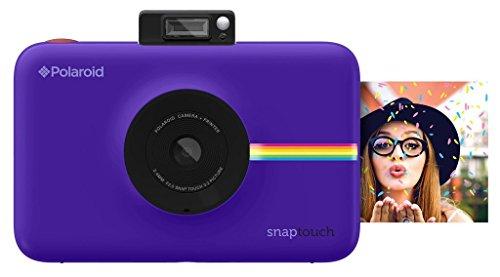 Polaroid Snap Touch - Cámara digital con impresión instantánea y pantalla LCD con tecnología Zero Zink, púrpura