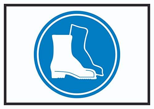 HB-Druck Sicherheitsschuhe tragen Symbol Schild A4 (210x297mm)