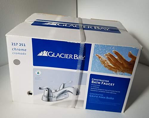 Glacier Bay Constructor 4 In. 2-handle Low-arc Bathroom Faucet in Chrome