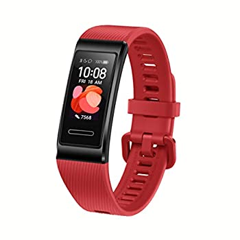Huawei Band 4 Pro - Smart Band Fitness Tracker with 0.95 Inch AMOLED Touchscreen 24/7 Heart Rate Monitor Indoor Outdoor Pro Tracking Sleep Monitor Built-in GPS 5ATM Waterproof Cinnabar Red