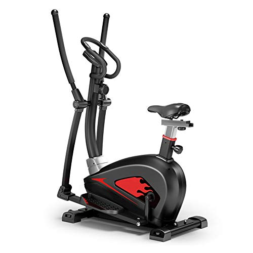 Tribesigns cross trainer with seat,4-IN-1 Elliptical cross trainer, 16 Resistance Levels Adjustable Seat,Duty capacity 330lbs with LCD display Elliptical trainer for home Gym