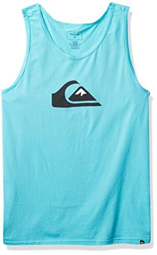 Quiksilver Men's COMP Logo Tank, Pacific Blue, L