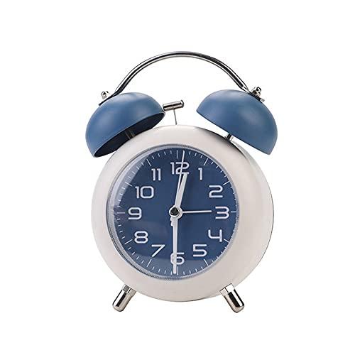 SSMDYLYM Reloj despertador digital pequeño para que los estudiantes utilicen silenciosa alarma luminosa con alto volumen y reloj de campana personalizado