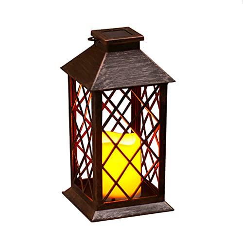 HSCW Solar Lanterns, Garden Lights, Outdoor-LED Flashing Flameless Candle Outdoor, Party LED Chandeliers, Leaf Villa Wind Lights 14 * 14 * 26cm Life: 50000 (h) Street Lights Decorative Lighting