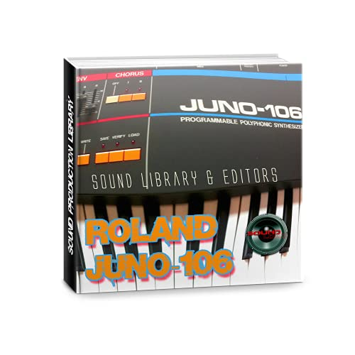 para ROLAND JUNO-106 Gran Fábrica Original y NUEVO Creado Biblioteca de Sonido & Editores en CD o descargar