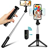 Selfie Stick Tripod with Bluetooth Remote, TEUMI Mini Pocket Tripod for Cell Phone