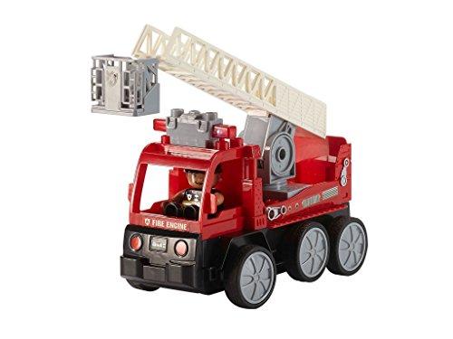 RC Auto kaufen Feuerwehr Bild 2: Revell Control Junior RC Car Feuerwehr - ferngesteuertes Feuerwehr Auto mit 40 MHz Fernsteuerung, kindgerechte Gestaltung, ab 3, mit Teilen und Figur Zum Bauen und Spielen, LED-Blinklichtern - 23001*