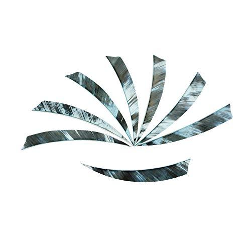 MILAEM 50 Piezas Plumas para Flechas Tiro con Arco Flecha Fletches Plumas de Pavo 5 Pulgadas Natural Fletching Vanes Alas para Flechas (Blanco)