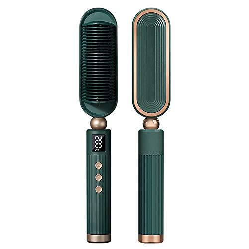Mabor Cepillo alisador eléctrico 2 en 1 para cabello negro y rizador para pelo crimpador de hierro de pelo crimpador, herramientas de calefacción de vapor