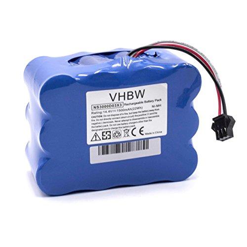 vhbw NiMH Batterie 1500mAh (14.4V) pour Robot aspirateur Home Cleaner Robots domestiques Nestor E.Ziclean Furtiv