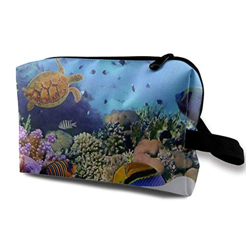 wenxiupin Cosmetic Bag Portable Handbag Seabed Chair Make Up Brush Holder Cosmetic Storage Organizer for Purse or Travel