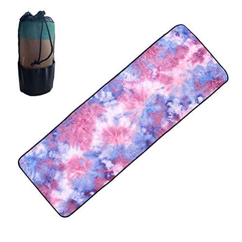 Leikance Yoga-Handtuch mit rutschfesten Silikonpartikeln, weich, für Reisen, Sport, Fitness, Übungen, Strandtuch