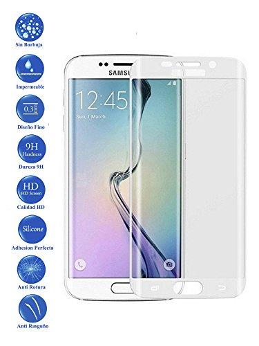 Todotumovil Protector de Pantalla Samsung Galaxy S6 Edge Plus Color Blanco Completo 3D Cristal Templado Vidrio Curvo para movil