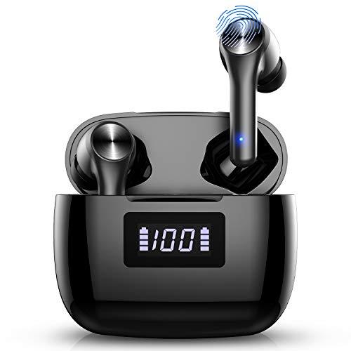 Bluetooth Kopfhörer, Kabellose Kopfhörer in Ear Sport Wireless Kopfhörer Ohrhörer Bluetooth 5.0 Wasserschutzklasse Wireless Earbuds, 30H Spielzeit Headset mit HD Mikrofon und Ladekästchen