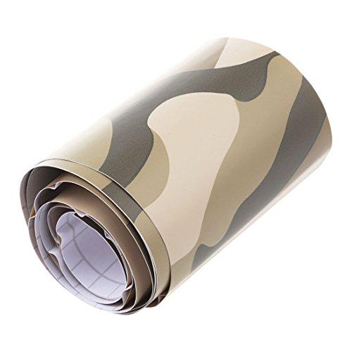 Gaetooely 1 Rolle Camo Auto Aufkleber Carbon Motorrad PVC Vinyl Armee Aufkleber CAMO Woodland Camouflage Aufkleber Gelb Camouflage 152X10Cm