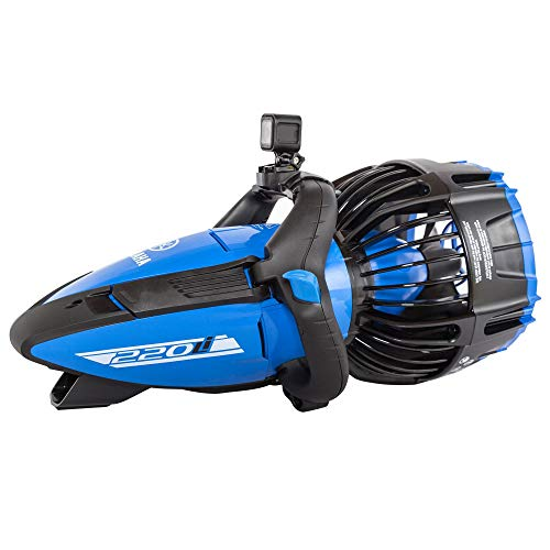 Yamaha Seascooter | Professional Dive Series | 220Li 350Li and 500Li | Underwater Scooter | Automatic Buoyance System | Designed for Salt Water | Class Power and Speed (220 Li | Metallic Blue / Black)