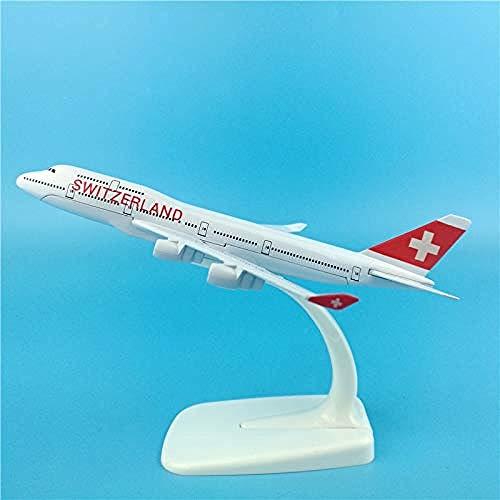 Geschenk 1: 400 Scale16Cm Swiss International Airlines Boeing B747-400 B747 Airlines Legierungsflugzeug Modell Flugzeug Flugzeug Modell Sammlerstück