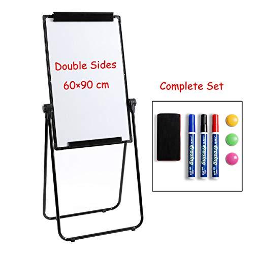 Doeworks Magnetische U-Ständer für Whiteboards/Flipcharts, doppelseitiger Ständer, höhenverstellbar und zusammenklappbar
