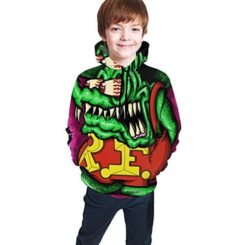 huatongxin Jungen/Kinder/Jugendliche/Jugendliche 3D-gedruckte Hoodie Rat Fink Langarm Sweatshirt Sweater