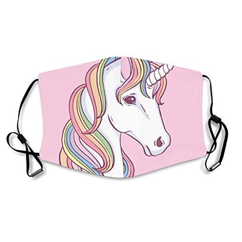 Caixiabeauty - Protección facial de unicornio arco iris con trabillas...