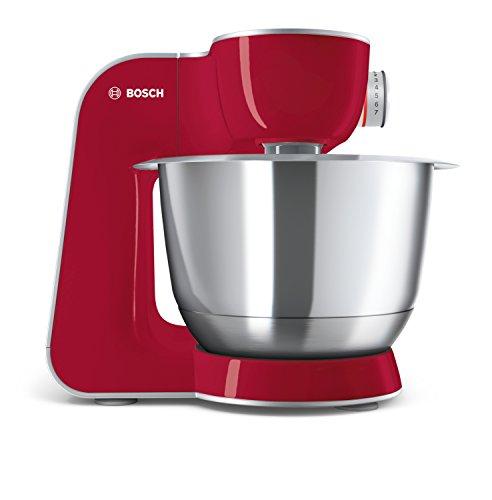Bosch MUM58720 Macchina da Cucina 3,9 L, Acciaio Inossidabile, Grigio/Rosso