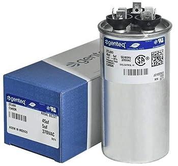 Genteq c3455r GE Round Capacitor 45 5 uf MFD 97F9895 Z97F995 97F9895BZ3 27L880 370V