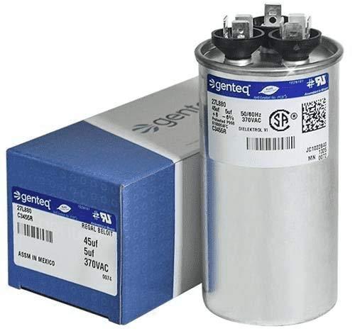 Genteq c3455r GE Round Capacitor 45 5 uf MFD, 97F9895, Z97F995, 97F9895BZ3, 27L880, 370V