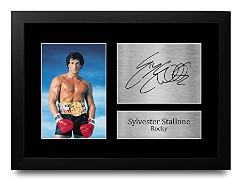 HWC Trading FR Sylvester Stallone Gift Getekend A4 Ontworpen Printed Handtekeningen Gifts Rocky Druk Foto Beeldscherm