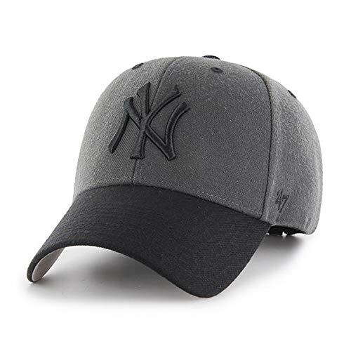 '47 Brand New York Yankees Audible Two Tone MVP Hat Cap Charcoal/Black