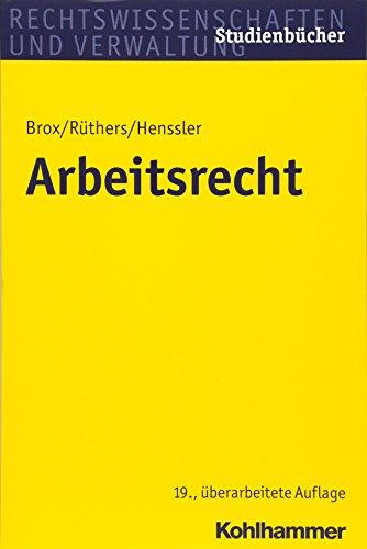 Arbeitsrecht (Studienbücher Rechtswissenschaft)