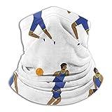 XCVD Bandanas demi-visage joueur de basket-ball masculin en action cache-cou en microfibre pour l'extérieur, le sport