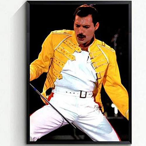 TFjXB 5D DIY Diamond Painting Jahr Sänger Rocker Kunst 3D Diamond Mosaic Handarbeiten Craft Queen Queen Band Freddie Mercury WG889 30x40cm