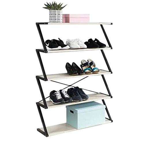 GUOCAO Porche de múltiples capas zapatero moderno para el hogar de hierro forjado estante de almacenamiento de zapatos gabinete a prueba de polvo zapatero estante para el hogar