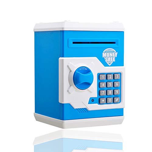 U/S Hucha Electronica, Contraseña Money Bank para Cash Coin ATM Mini Coin Banks Mejores Regalos para niños (Azul)