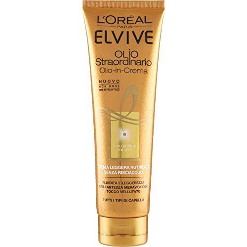 L'Oréal Paris Trattamento Elvive Olio Straordinario, Crema Leggera Nutriente per Tutti i Tipi di Capello, 150 ml
